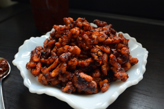 Harissa Roasted Walnuts